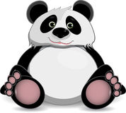 Śliczna gruba panda ilustracji