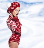 ilustracyjna abstrakcyjna elegancka zimy kobieta Fotografia Stock