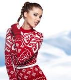 ilustracyjna abstrakcyjna elegancka zimy kobieta Obraz Stock