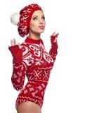 ilustracyjna abstrakcyjna elegancka zimy kobieta Zdjęcia Stock
