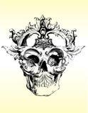 ilustracyjna czaszki przekręcająca Zdjęcia Royalty Free