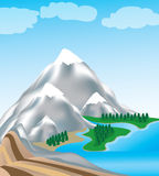 ilustracyjna góra Obrazy Royalty Free