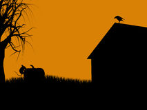 ilustracyjna Halloween sylwetka Obraz Royalty Free