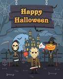 Ilustracyjna Halloweenowa Dyniowa Maniacka śmierć ilustracja wektor