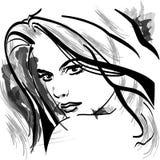 ilustracyjna kobieta Fotografia Royalty Free