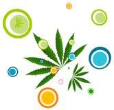 ilustracyjna liść marihuany Zdjęcia Royalty Free