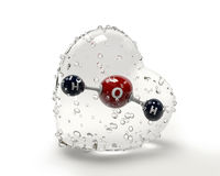 Ilustracyjna molekuła woda z condinsation sercem dalej Fotografia Stock