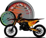 Ilustracyjna motocross jeźdza przejażdżka motocross rower ilustracja wektor
