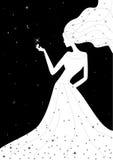 ilustracyjna noc wektoru kobieta Obraz Royalty Free