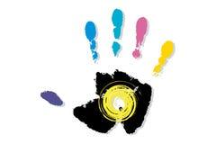 Colour ręka ilustracji