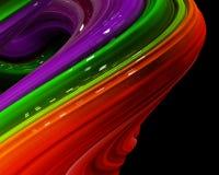 Ilustracyjna tęcza koloru abstrakcjonistyczny kolorowy na czarnym tle Obrazy Stock