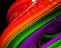 Ilustracyjna tęcza koloru abstrakcjonistyczny kolorowy na czarnym tle Fotografia Royalty Free