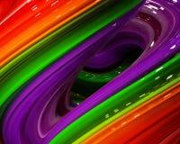 Ilustracyjna tęcza koloru abstrakcjonistyczny kolorowy na czarnym tle Obrazy Royalty Free