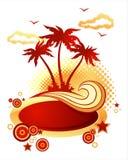 ilustracyjna tropikalna wyspa Fotografia Royalty Free