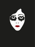 Ilustracyjna twarz film niemy aktorka royalty ilustracja