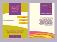Ilustracyjna ulotka dla reklamowych turystyk firm, wycieczki turysycznej opera Fotografia Stock