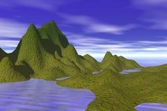 ilustracyjna wyspę. Zdjęcie Royalty Free