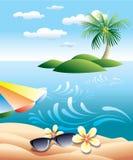 ilustracyjna wyspa Obraz Royalty Free