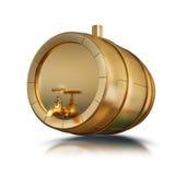 Ilustracyjna złota baryłka odizolowywająca Fotografia Stock