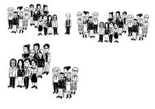 Ilustracyjne grupy ludzi Zdjęcie Royalty Free