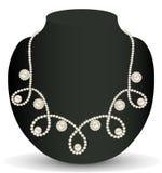 Kolii kobiety dla małżeństwa z perłami i cennymi kamieniami Obrazy Royalty Free