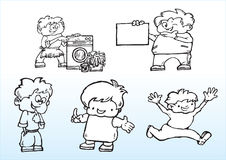 Ilustracyjne kreskówek chłopiec Zdjęcia Stock