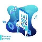 Ilustracyjne usługi biznesowe royalty ilustracja