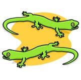 Ilustracyjne zielone Jaszczurki Obraz Royalty Free