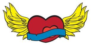 ilustracyjnego miłości kochanka dzierżawczy skrzydła Fotografia Stock