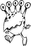 ilustracyjnego potwora szkicowy wektor Fotografia Royalty Free