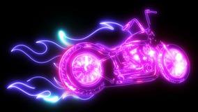 ilustracyjnej Płomiennej roweru siekacza przejażdżki Frontowy widok zbiory