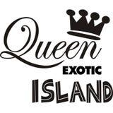 Ilustracyjnej projekt królowej wyspy wektoru Egzotyczny sillhoutte ilustracja wektor