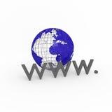 ilustracyjnej szeroki świat sieci Zdjęcie Stock