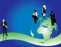 Ilustracyjni biznesowi biurowi ludzie ilustracji