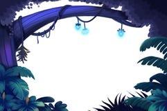 Ilustracyjni elementy: Lasowy drzewo odizolowywający w Białym tle royalty ilustracja