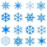 Ilustracyjni płatki śniegu i biały tło zdjęcia stock