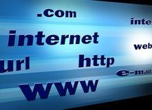 ilustracyjni reklama internety tv Zdjęcie Stock