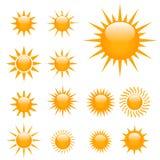 ilustracyjni słońca Obrazy Royalty Free