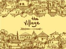 Ilustracyjni wioska domy ilustracja wektor