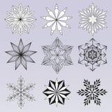Ilustracyjny abstrakcjonistyczny płatek śniegu Zdjęcie Stock