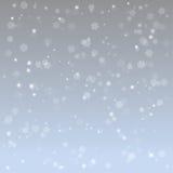 Ilustracyjny abstrakcjonistyczny płatka śniegu tło Zdjęcia Royalty Free