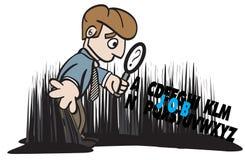ilustracyjny akcydensowy przyglądający target2205_0_ poszukiwacza Zdjęcie Stock