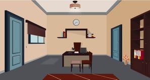 Ilustracyjny biuro, biuro/kreskówki, sekretarza spraw wewnętrznych/ ilustracji