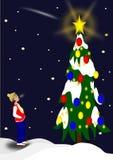 ilustracyjny drzewa wektoru xmas zdjęcie stock