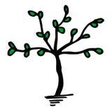 ilustracyjny drzewo Fotografia Royalty Free