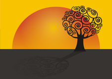 ilustracyjny drzewo Obrazy Stock
