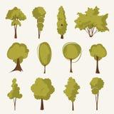 Ilustracyjny drzewo set Obraz Royalty Free