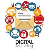 Ilustracyjny Graficzny Wektorowy Cyfrowego marketing ilustracji