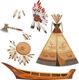 ilustracyjny indyjski raster setu wektor Zdjęcia Stock