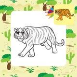 ilustracyjny inspiraci natury tygrys ilustracji